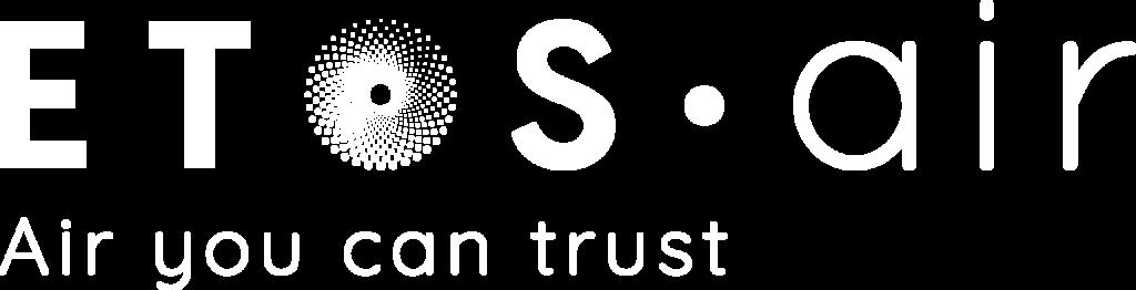 ETOS air logo - negativ venstre stillet